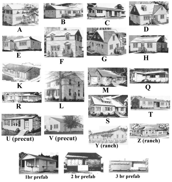 Alphabet houses for Types of houses in america